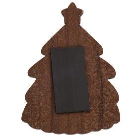Magnet de frigo sapin Nativité bois s2