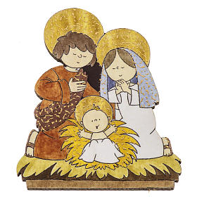 Magnet in wood with image of the Holy Family s1