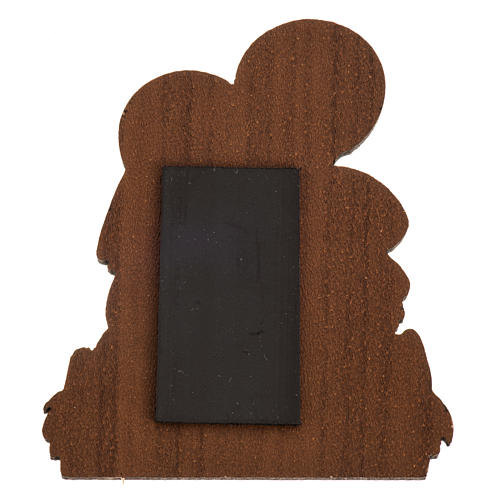 Magnet in wood with image of the Holy Family 2