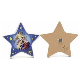 Magnet étoile Nativité céramique s3