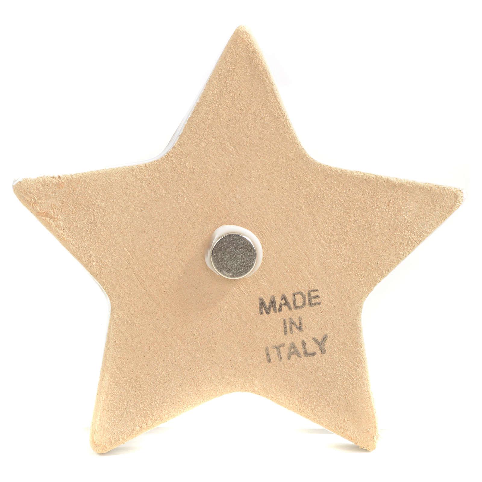 Magnete stella ceramica Natività 3