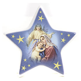 Religious Magnets: magnet star nativity ceramic