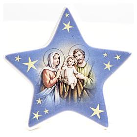 Calamita stella ceramica con Natività s7