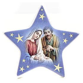 Calamita stella ceramica con Natività s1