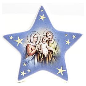 Calamita stella ceramica con Natività s2