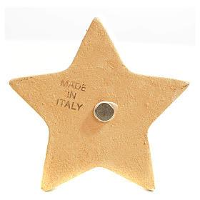 Calamita stella ceramica con Natività s3
