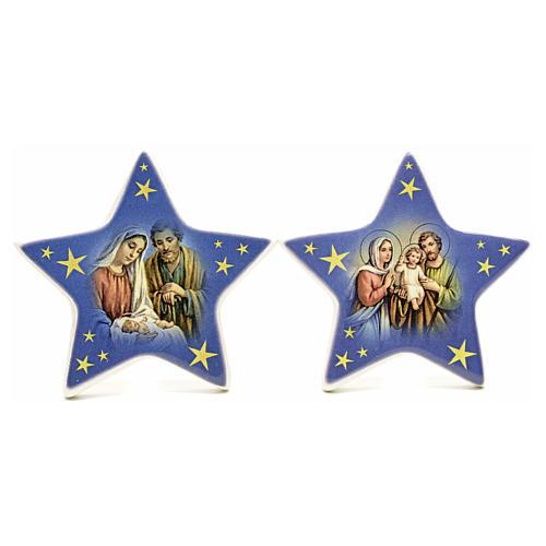 Calamita stella ceramica con Natività 4