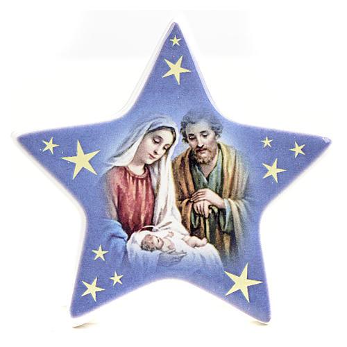 Calamita stella ceramica con Natività 1