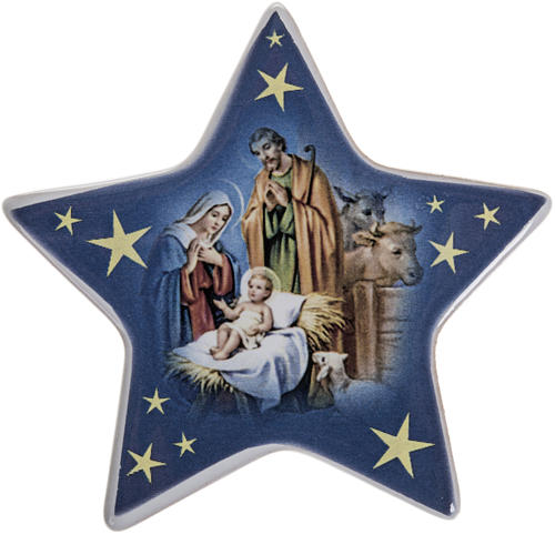 Star magnet ceramic Nativity 1