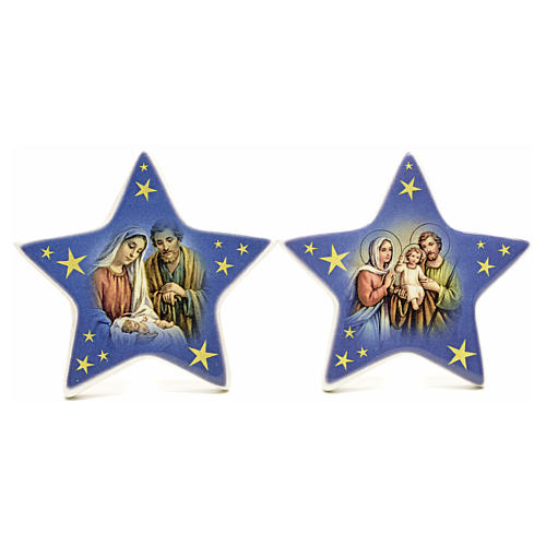 Star magnet ceramic Nativity 6
