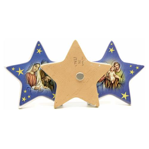 Star magnet ceramic Nativity 7