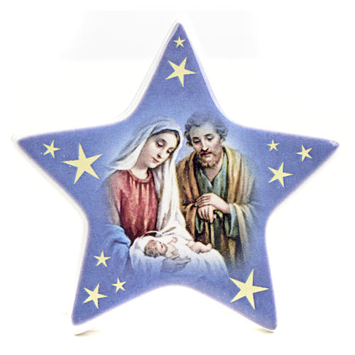 Star magnet ceramic Nativity 8
