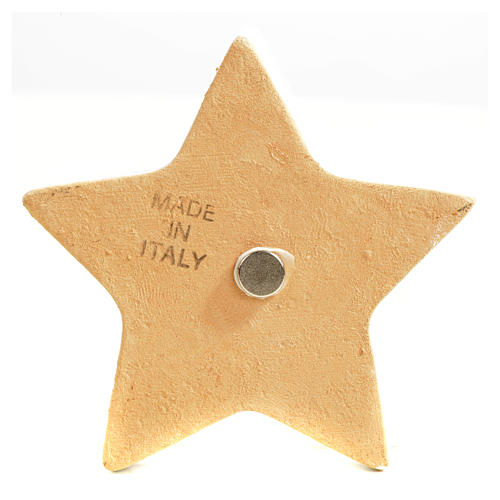 Star magnet ceramic Nativity 10