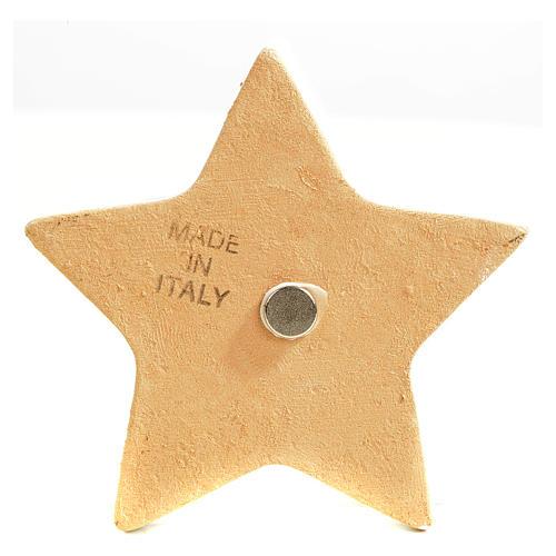 Star magnet ceramic Nativity 5