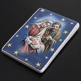 Magnete rettangolare ceramica Sacra Famiglia s2