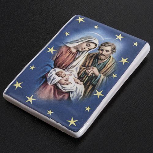 Magnete rettangolare ceramica Sacra Famiglia 2