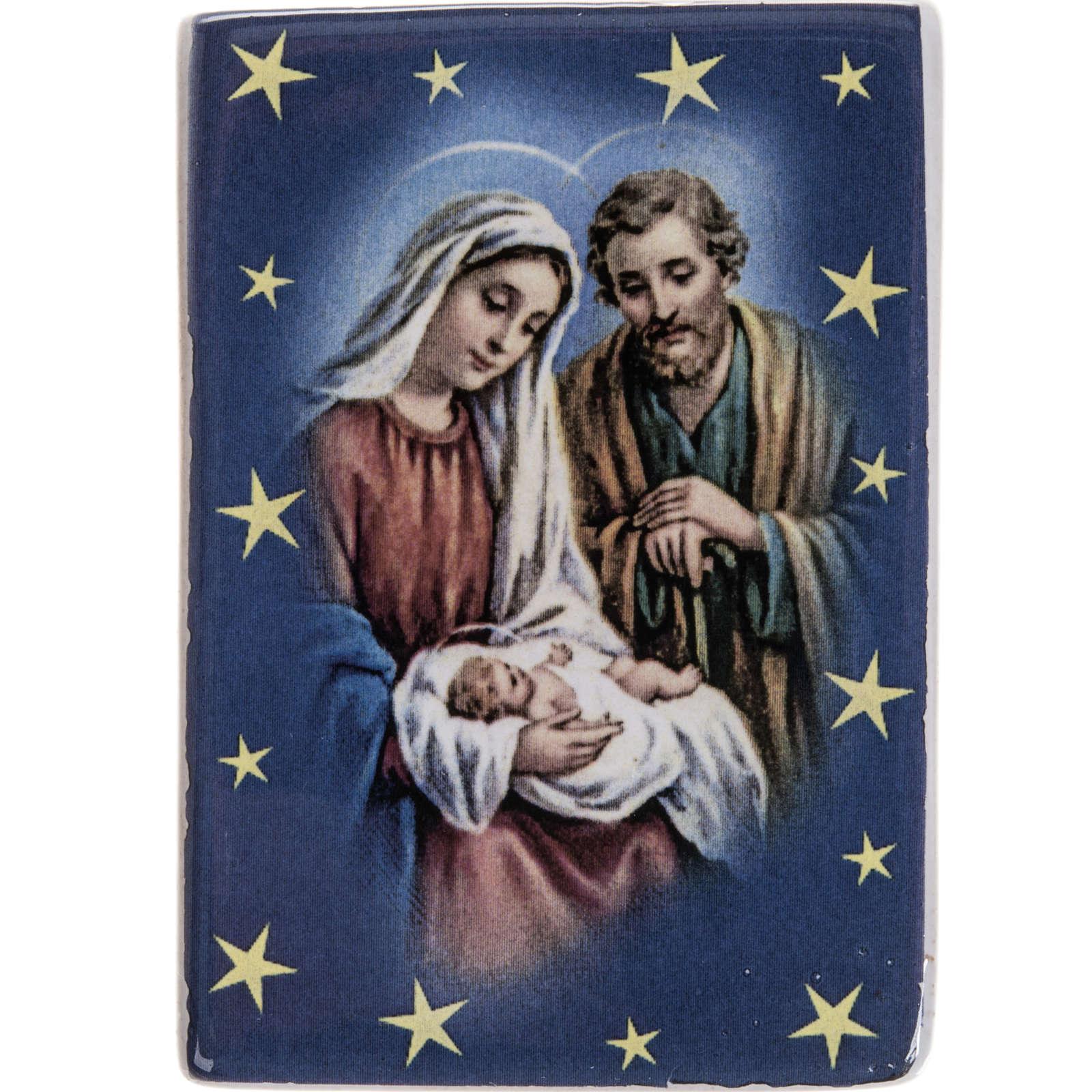 Rectangular magnet ceramic Holy Family 3