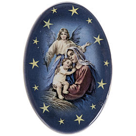 Religious Magnets: Oval magnet Jesus's birth terracotta