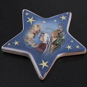 Star magnet terracotta manger scene. s2