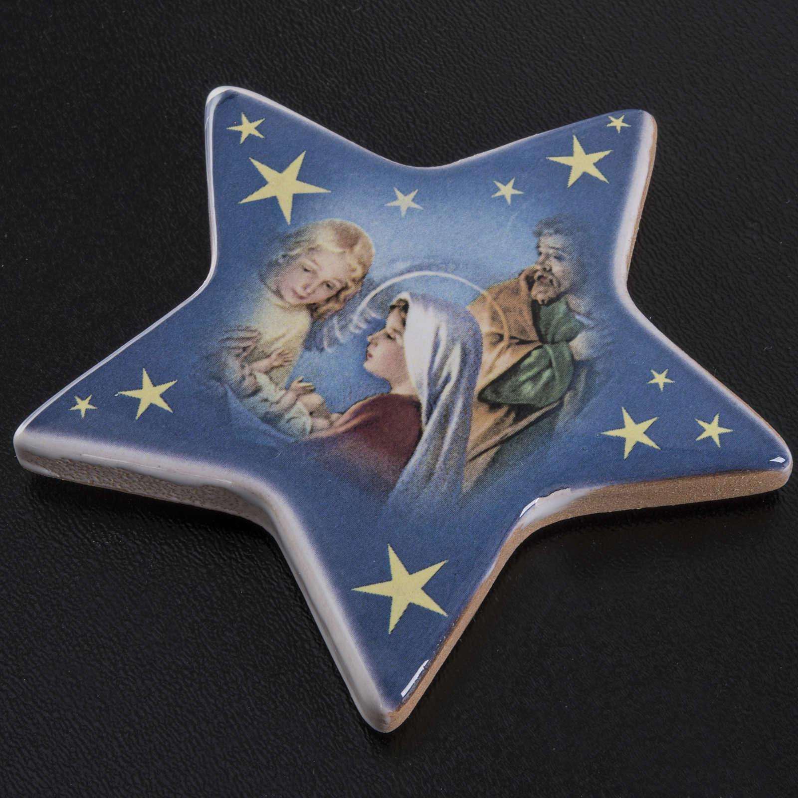 Magnet étoile crèche Noel céramique 3