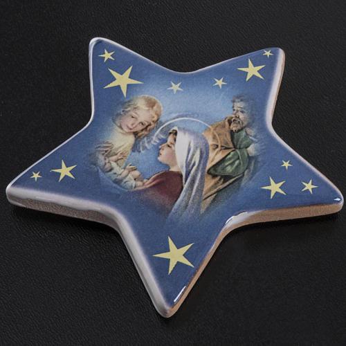 Magnet étoile crèche Noel céramique 2