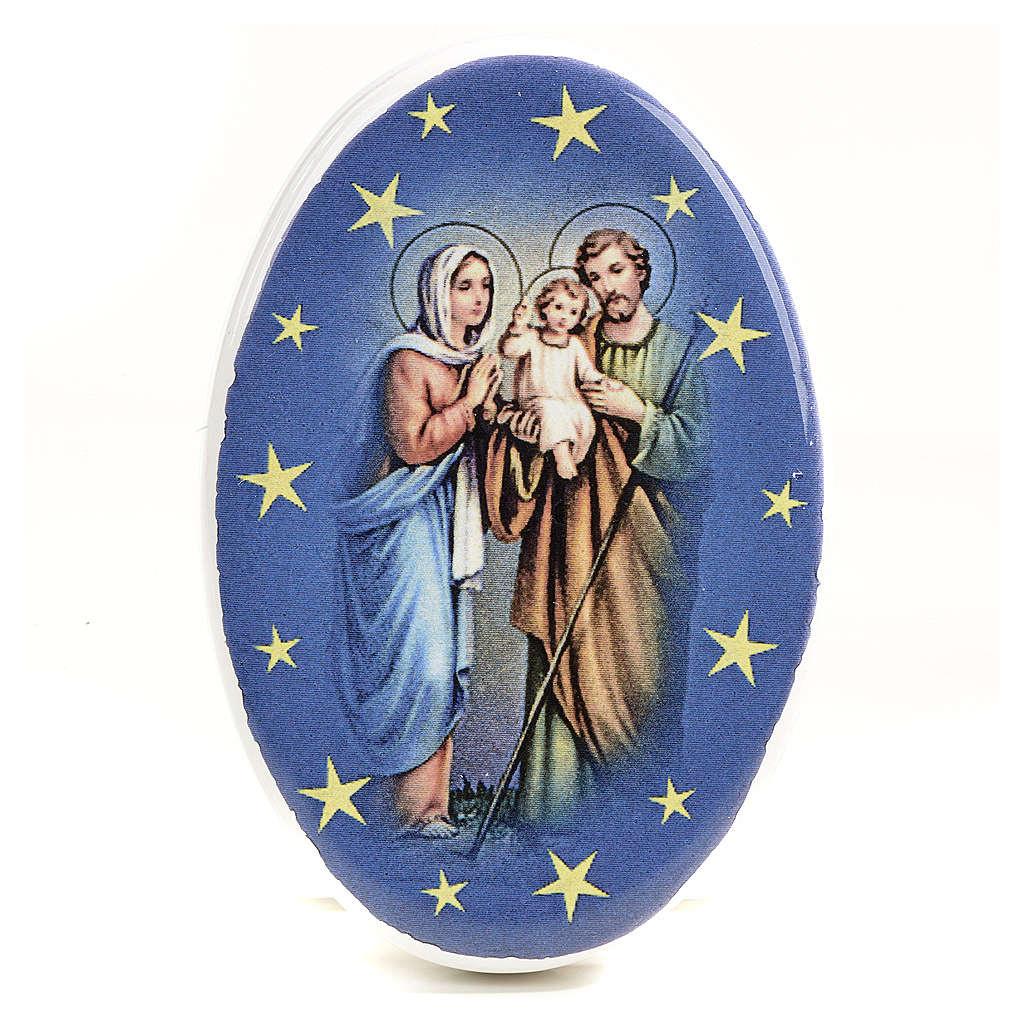 Round shaped magnet terracotta Nativity. 3