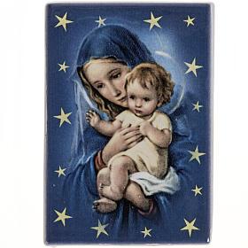 Magnet Marie et enfant Jésus céramique s1