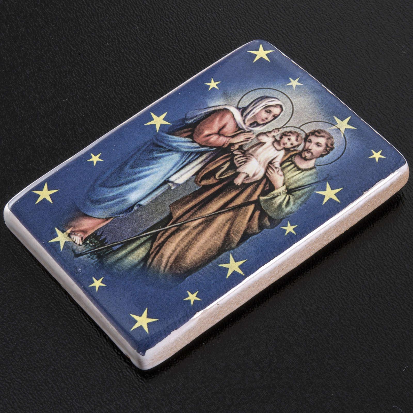 Magnete ceramica Sacra Famiglia in piedi 3