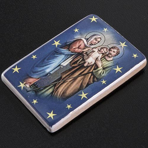 Magnete ceramica Sacra Famiglia in piedi 2