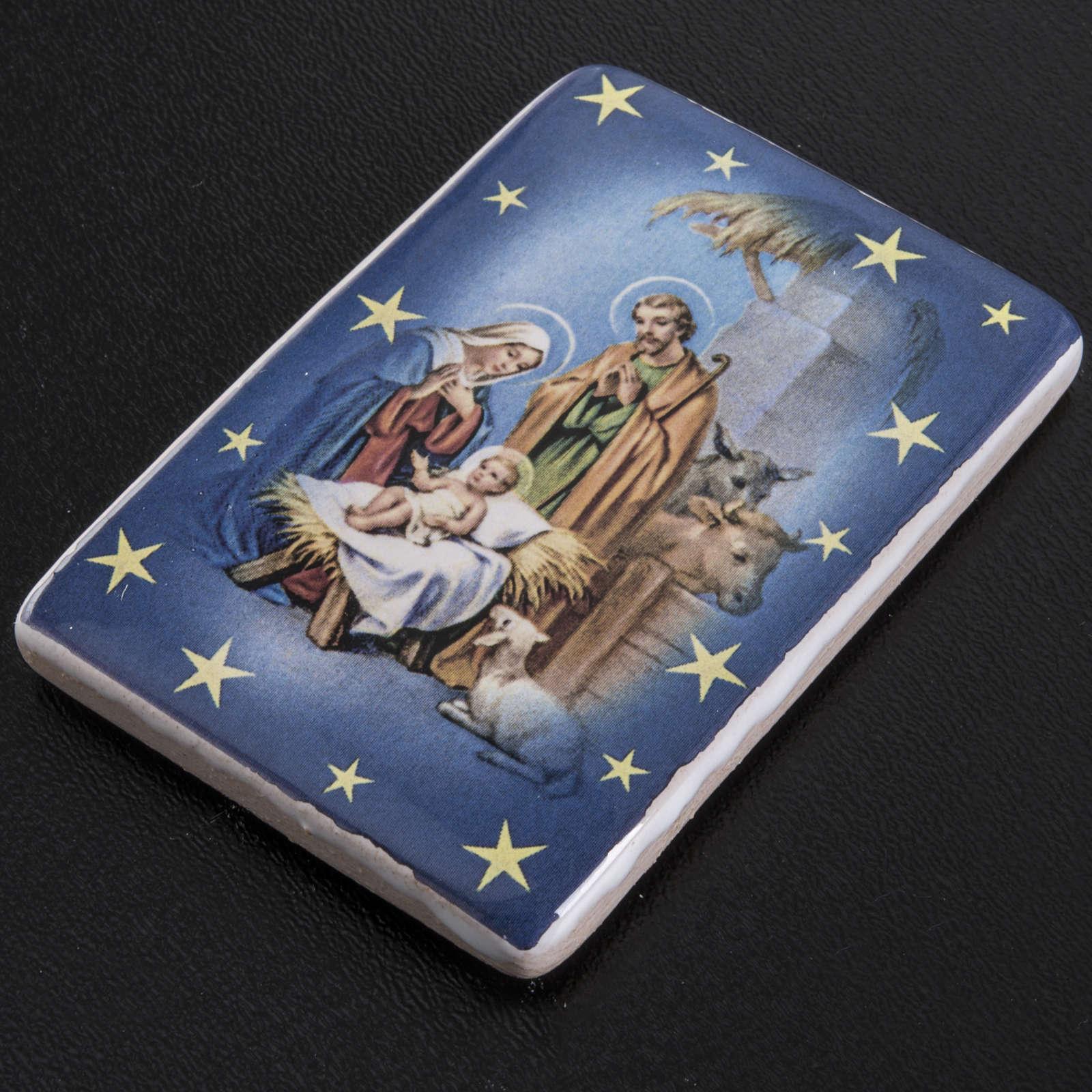 Magnet ceramic Holy Family 3