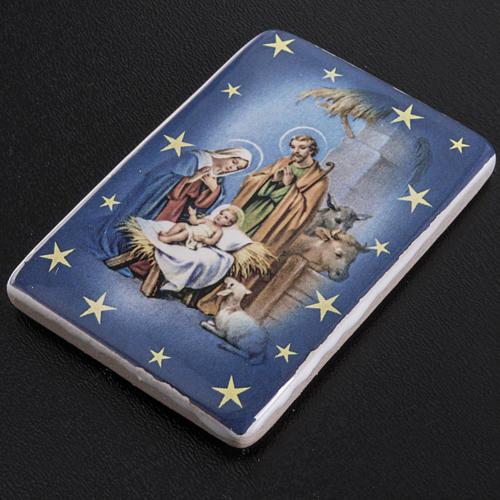 Magnet ceramic Holy Family 2