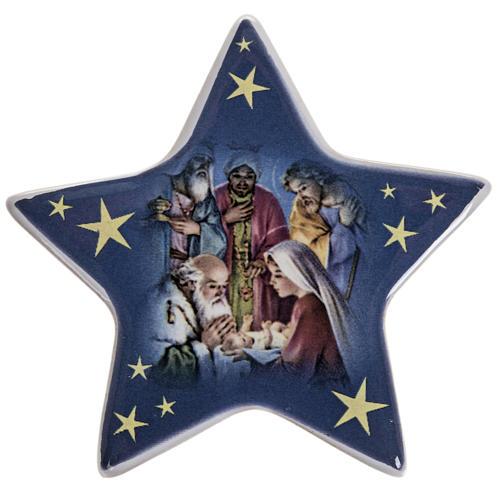 Imán cerámica Adoración de los Magos 1