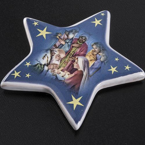 Imán cerámica Adoración de los Magos 2