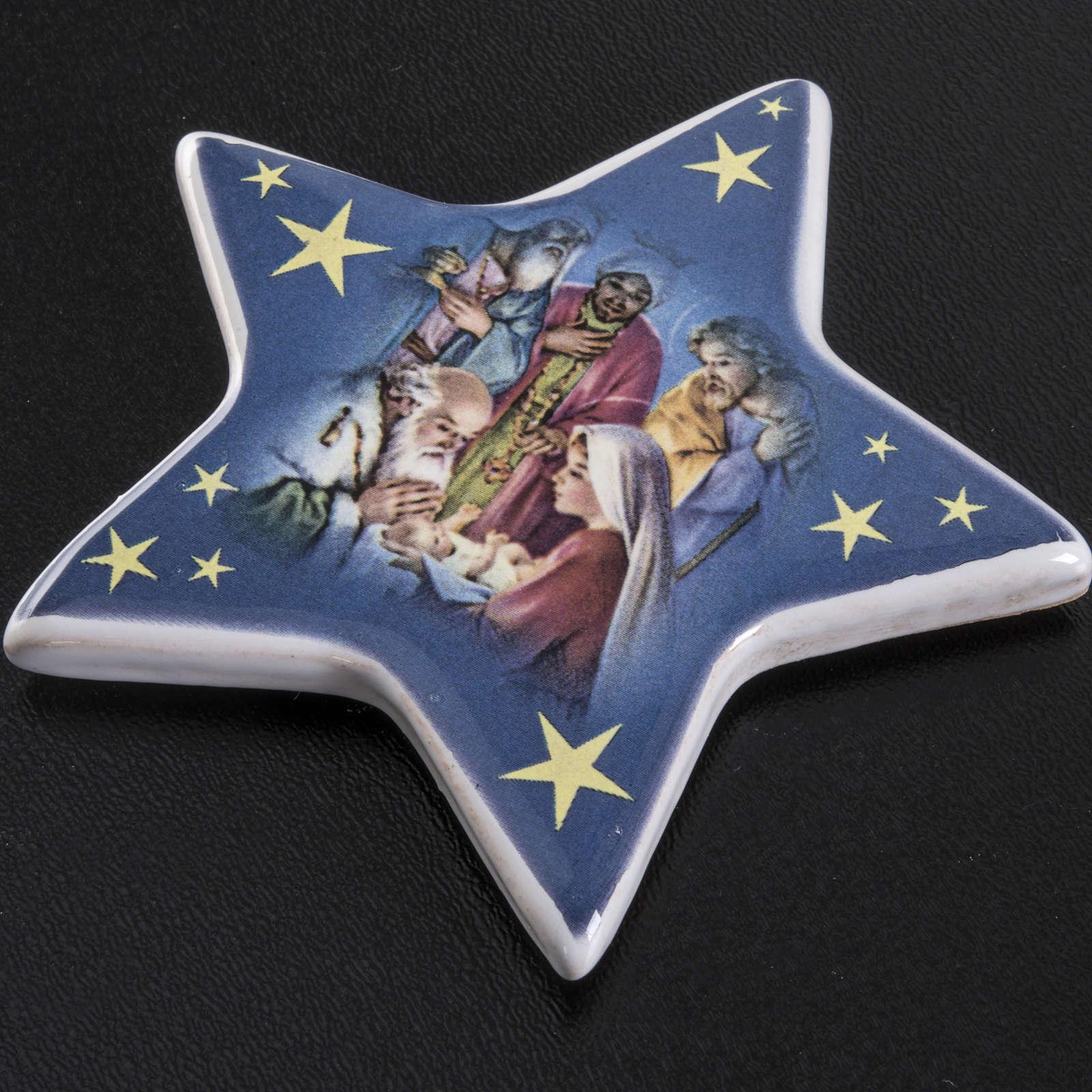 Magnet adoration des Mages céramique 3