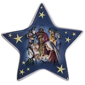 Religious Magnets: Ceramic Magnet Magi's Adoration