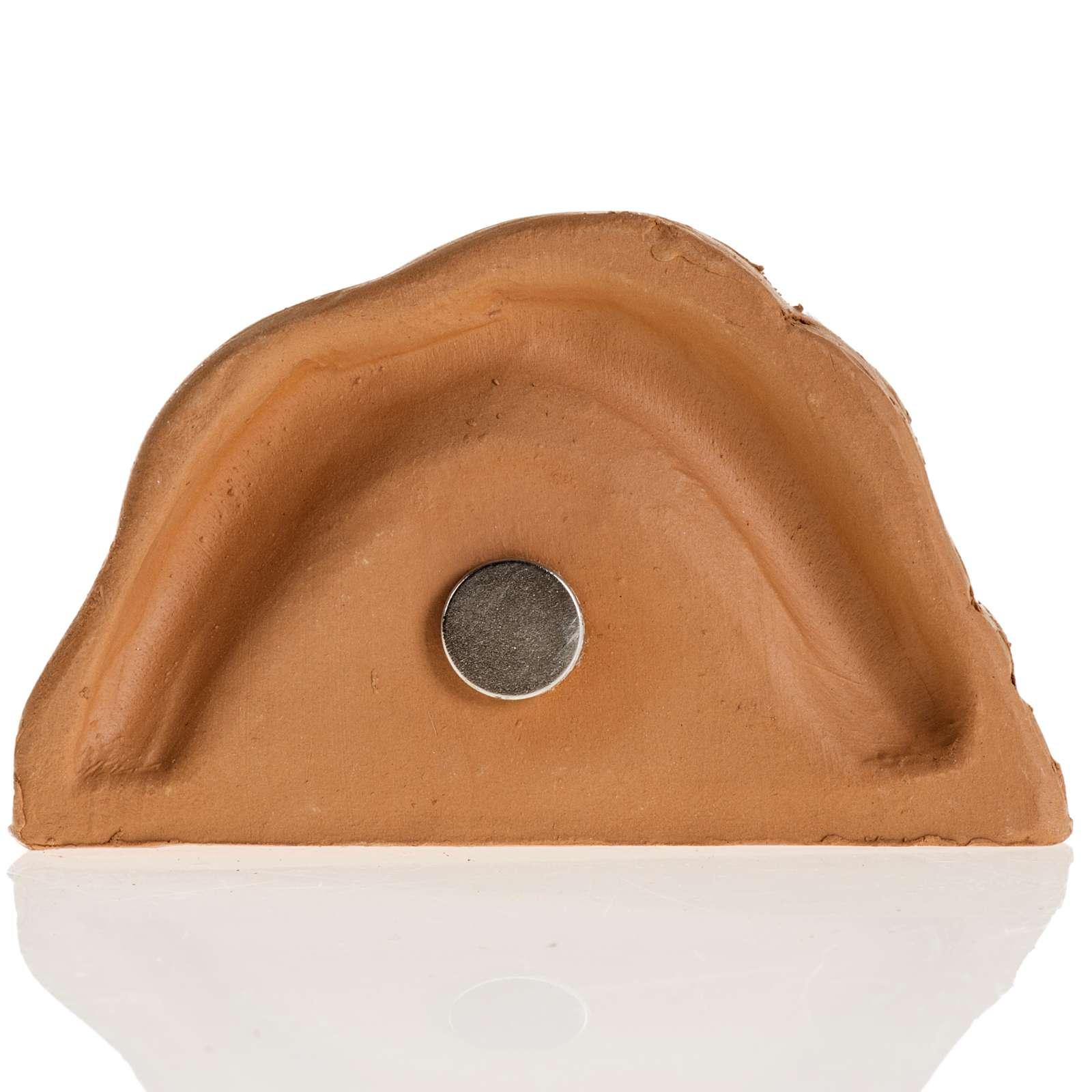 Magnet de frigo Nativité terre cuite 4.5x5 3