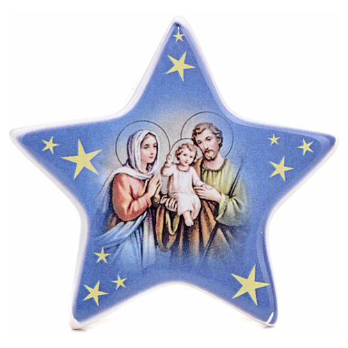 Magnet in ceramic with Nativity, Holy Family 1