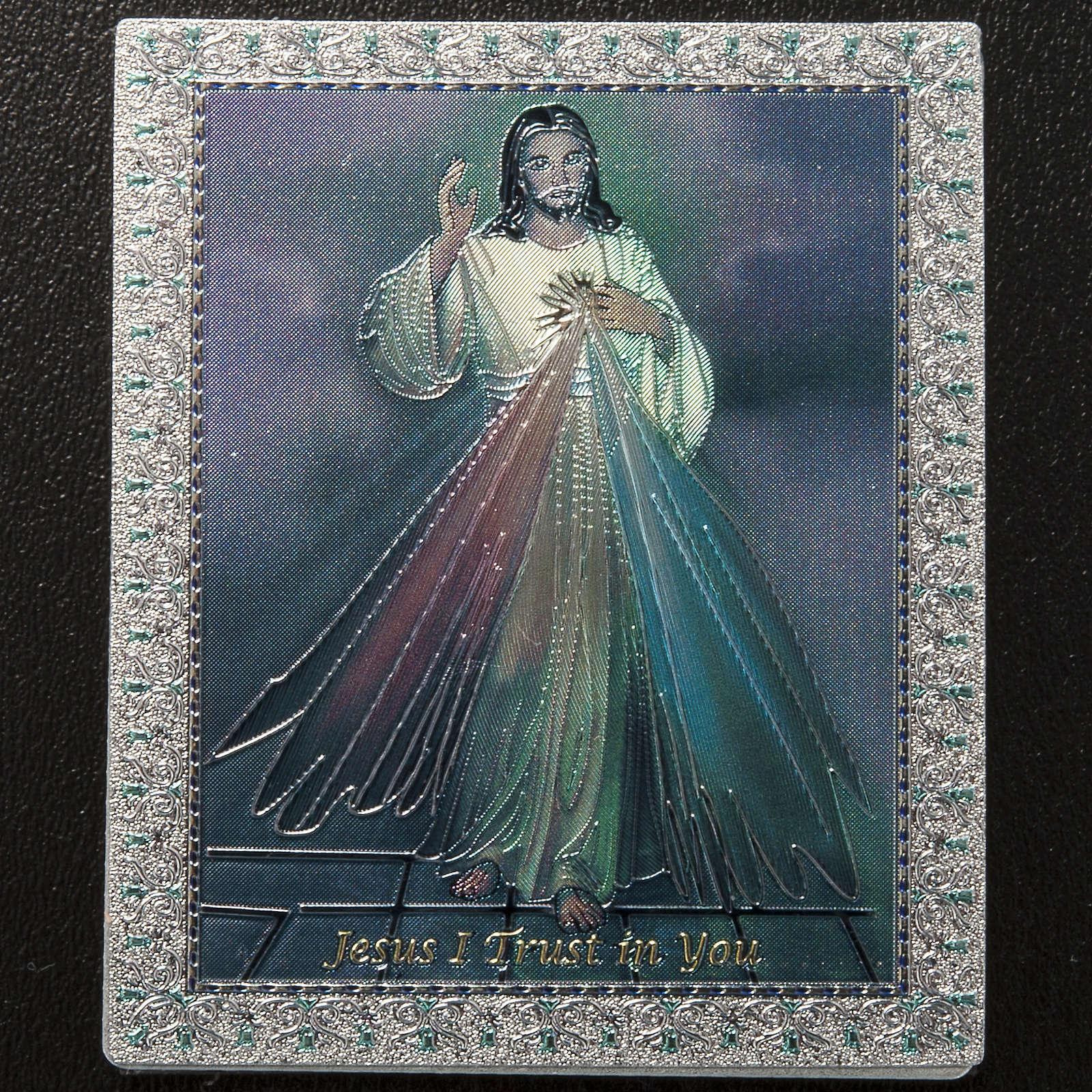 Magnet Jésus Miséricordieux anglais 3