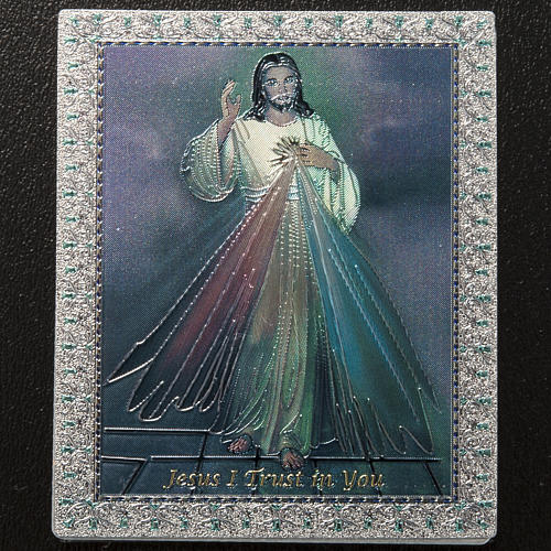 Magnet Jésus Miséricordieux anglais 2