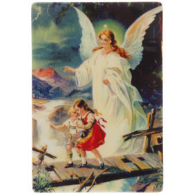 Religious Magnets: Guardian angel magnet classic style