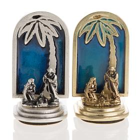 Nativity magnet with image 5x3cm s1