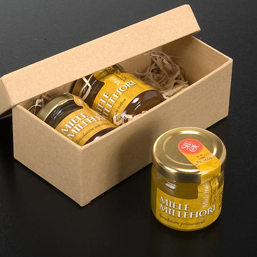 Miel Illefiori : boite de 3 pots de 45 gr, Monastère Silo 2