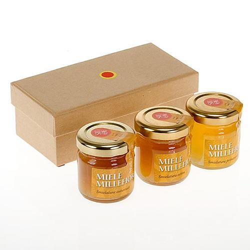 Miele millefiori: confezione 3 vasetti 45 gr Monastero Siloe 1