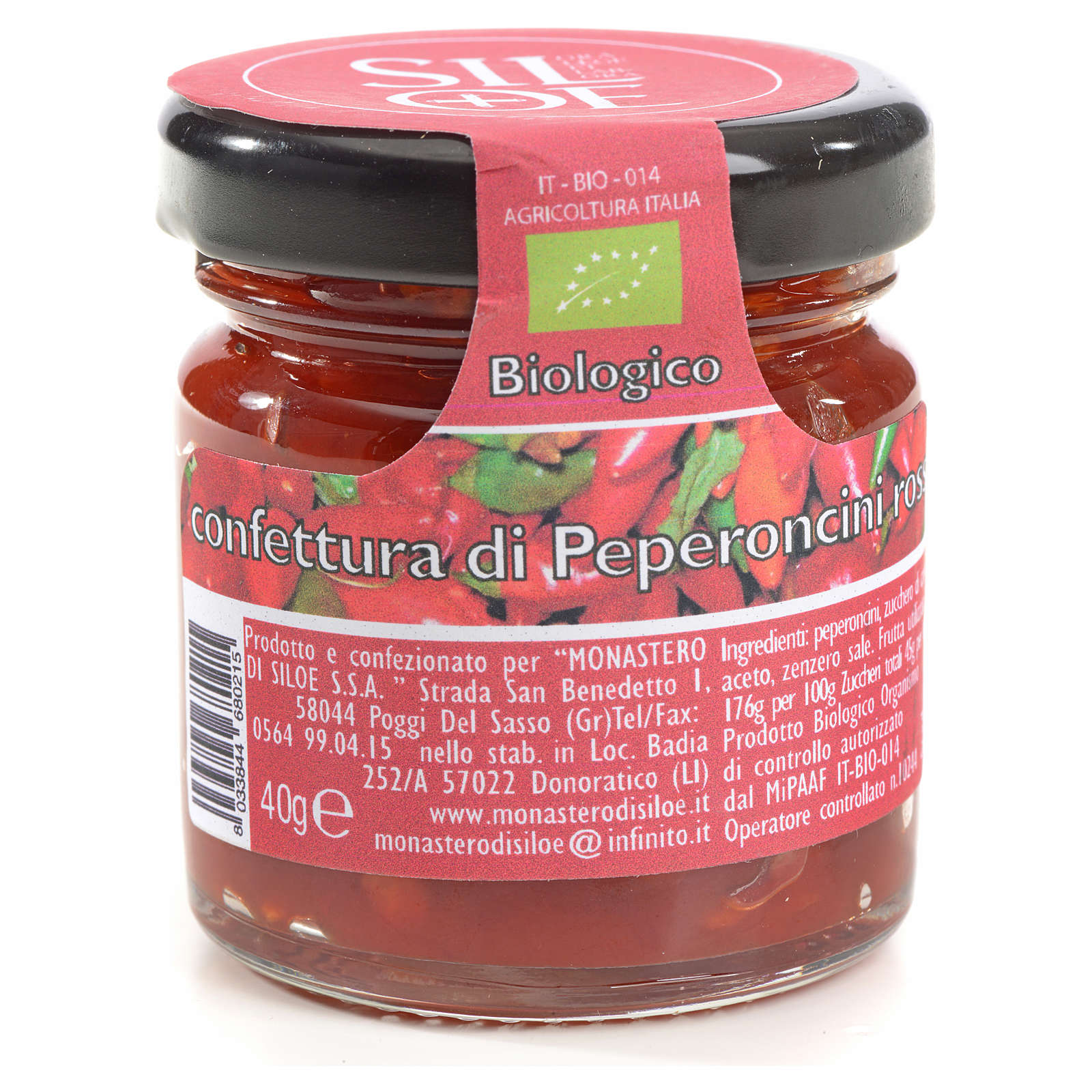 Confettura di peperoncini rossi Monastero Siloe 40 gr 3