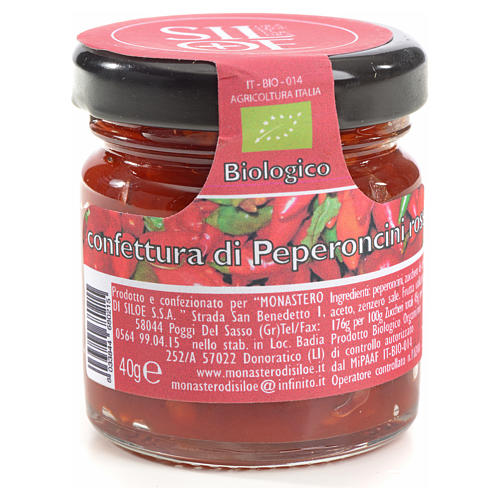 Confettura di peperoncini rossi Monastero Siloe 40 gr 1