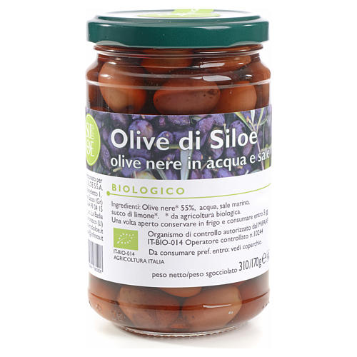 Olive nere in acqua e sale Monastero Siloe 310 gr 1