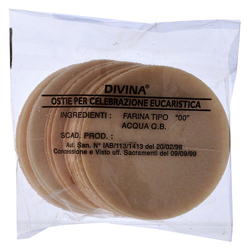 Thick altar bread 7.5 cm diameter 15 pcs bag 1