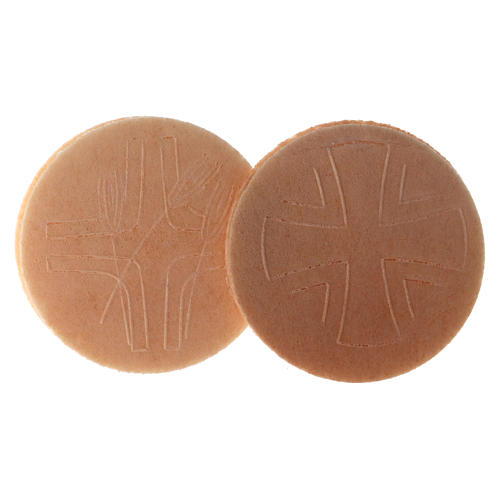 Hostia Magna de pan, 15 piezas, díametro 7,5 cm 2