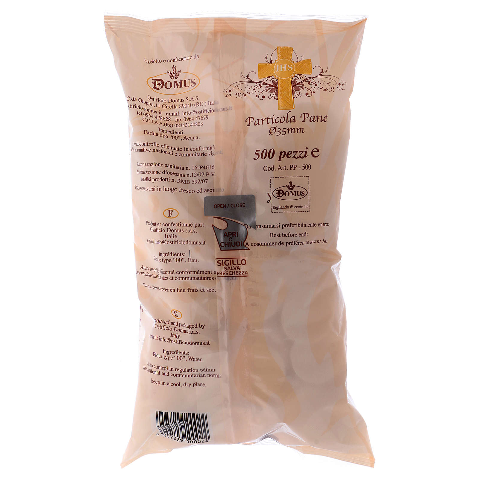 Hostia / Forma pan espesor 1.4 mm 500 piezas diámetro 3.5 3