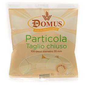 Hóstias e Partículas para Missa: Partículas de borda fina 3,5 cm 100 unidades